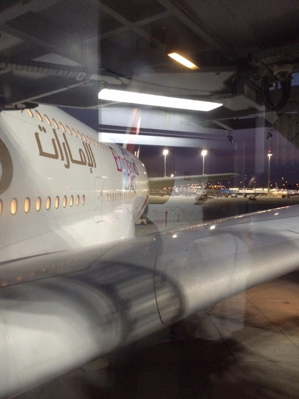 My plane to Dubai