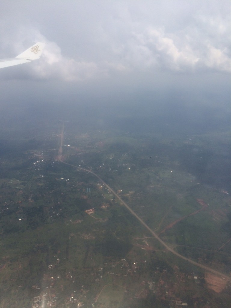 Road between Entebbe and Kampala